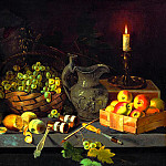 Khrutsky Ivan – Still Life with Candle, 900 Classic russian paintings