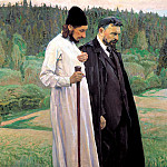 900 Classic russian paintings - Nesterov Mikhail - Philosophy