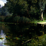 Polenov Vasily - overgrown pond, 900 Classic russian paintings