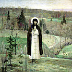 Nesterov Mikhail - St. Sergius of Radonezh, 900 Classic russian paintings