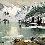 900 Classic russian paintings - Gurkin Gregory - Lake Mountain Spirits