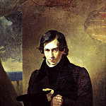 900 Classic russian paintings - BRYULLOV Karl - Portrait of the Writer Nestor Vasilevich Puppeteer