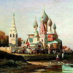 900 Classic russian paintings - Bogolyubov Alexey - Procession in Yaroslavl