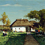 ZARUBIN Victor – Ukrainian farmstead, 900 Classic russian paintings