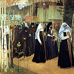 Nesterov Mikhail – Great vows, 900 Classic russian paintings