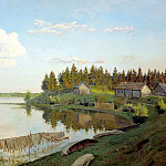 900 Classic russian paintings - Levitan Isaac - On the lake