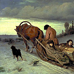 900 Classic russian paintings - Perov Vasily - Journey