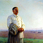 900 Classic russian paintings - Portraits of Stalin - Fedor Shurpin