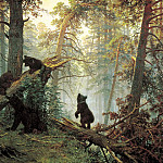 Shishkin Ivan – Morning in a Pine Forest, 900 Classic russian paintings