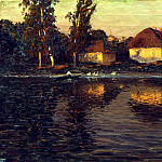 900 Classic russian paintings - DUBOVSKAYA Nikolay - Evening in Ukraine