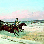 900 Classic russian paintings - Sverchkov Nicholas - Three winter