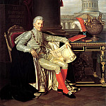 900 Classic russian paintings - Warnecke Alexander - Portrait of privy councilor president of the Academy of Arts Count Stroganov. 1814