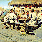 Sergei Vinogradov - Lunch Workers, 900 Classic russian paintings