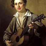 900 Classic russian paintings - Tropinin Basil - Guitarist. 1823