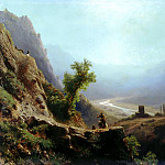 900 Classic russian paintings - Lagorio Lev - In the mountains of the Caucasus