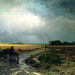 Fyodor Vasiliev - After the rain. Country road, 900 Classic russian paintings
