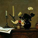 900 Classic russian paintings - ANOKHIN Nicholas - Flowers on the piano