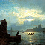 Lagorio Lev - Moonlight on the Neva, 900 Classic russian paintings