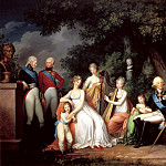 900 Classic russian paintings - KYUGELGEN Gerhard von - Paul I, Maria Feodorovna, and their children