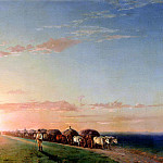 900 Classic russian paintings - Ivan Aivazovsky - The train in the steppe