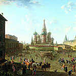 900 Classic russian paintings - Fedor Alekseev - Red Square in Moscow