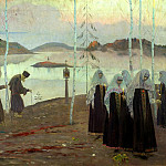 NESTEROV Michael - the Desert Fathers and wife without fault, 900 Classic russian paintings