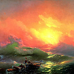 900 Classic russian paintings - Ivan Aivazovsky - The Ninth Wave