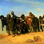 Ilya Repin – Volga Boatmen, 900 Classic russian paintings