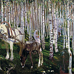 Rylov Arcade – In the woods, 900 Classic russian paintings