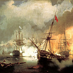 900 Classic russian paintings - Ivan Aivazovsky - Sea battle at Navarino on October 2, 1827