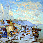900 Classic russian paintings - Gorbatov Constantine - Pskov