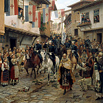 900 Classic russian paintings - Nikolai Dmitriev-Orenburgsky - Entrance of Grand Duke Nikolai Nikolaevich Tarnovo, June 30, 1877