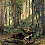 Shishkin Ivan - Forest Stream, 900 Classic russian paintings