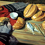 900 Classic russian paintings - Matorin Victor - Seven loaves
