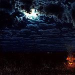 900 Classic russian paintings - SERGEEV Nicholas - Night in the wilderness