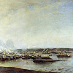 900 Classic russian paintings - Bogolyubov Alexey - Battle of Gangut July 27, 1714