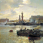 Beggrov Alexander - Petersburg Exchange, 900 Classic russian paintings