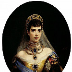900 Classic russian paintings - MAKOVSKY Constantin - Portrait of Empress Maria Feodorovna, wife of Alexander III