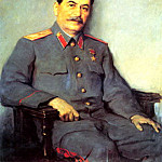 Portraits of Stalin - Victor Oreshnikov, 900 Classic russian paintings