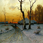 Klever Julius – Thaw, 900 Classic russian paintings