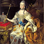 Antropov Alexey - Portrait of Empress Catherine II, 900 Classic russian paintings