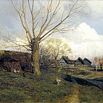 900 Classic russian paintings - Isaak Levitan - Savvinskaya settlement near Zvenigorod