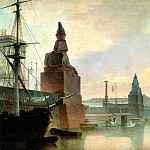 VOROBYEV Maxim – Neva Embankment near the Academy of Fine Arts, 900 Classic russian paintings