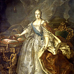 Argun Ivan - Portrait of Catherine II, 900 Classic russian paintings