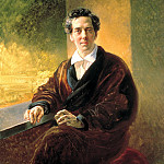 900 Classic russian paintings - BRYULLOV Karl - Portrait of Count Alexei Alekseevich Perovski. 1836