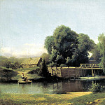 Brick Leo - at the dam, 900 Classic russian paintings