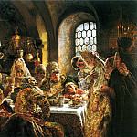 900 Classic russian paintings - MAKOVSKY Constantine - Boyar Wedding Feast in the XVII century