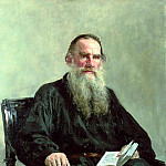900 Classic russian paintings - Ilya Repin - Portrait of Leo Tolstoy