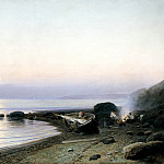 900 Classic russian paintings - SUDKOVSKY Rufus - At the beach
