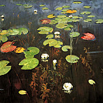 900 Classic russian paintings - Isaak Levitan - Lilies. Nenyufary